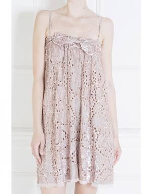 Платье из шелка и вискозы Maurizio Pecoraro. Цвет: розовый