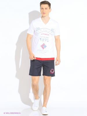 Шорты спорт U.S. Polo Assn.. Цвет: красный, темно-синий