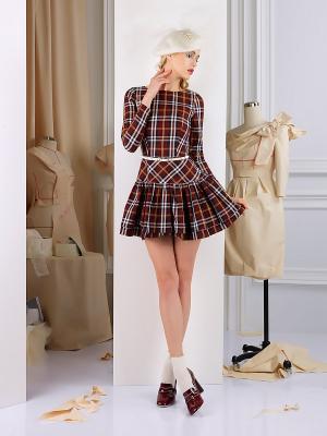 Платье Tasha Martens. Цвет: бордовый