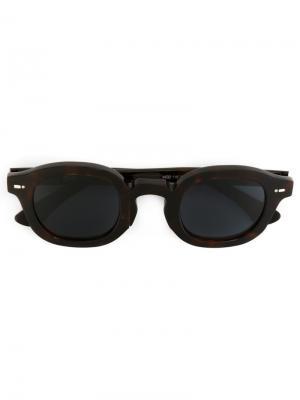 Солнцезащитные очки в квадратной оправе Movitra. Цвет: коричневый