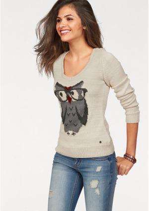 Пуловер AJC. Цвет: телесный