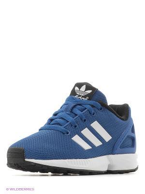 Кроссовки Zx Flux K Adidas. Цвет: синий