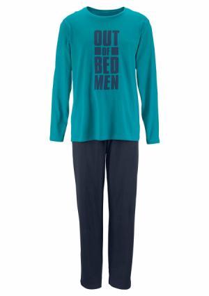 Пижама LE JOGGER. Цвет: бирюзовый/темно-синий, серый/черный