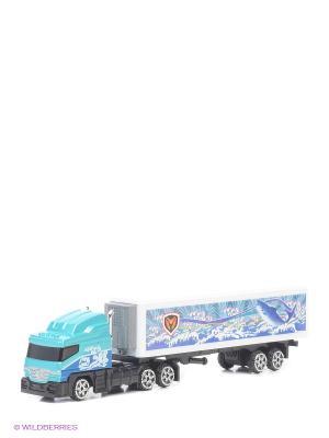 Коллекционная модель грузовика с полуприцепом Motormax. Цвет: голубой