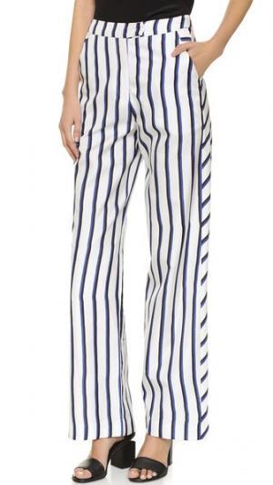 Широкие трикотажные брюки в двойную полоску Nicholas. Цвет: двойная полоска