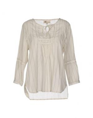 Блузка LOCAL APPAREL. Цвет: бежевый