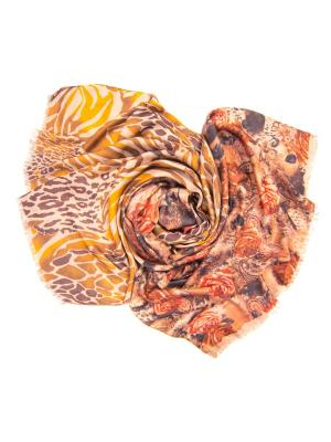 Платок женский, размер 185x70 см Charmante. Цвет: коричневый