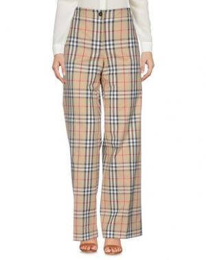 Повседневные брюки BURBERRY. Цвет: бежевый