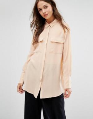 Gestuz Шелковая блузка Vega. Цвет: розовый