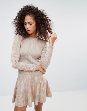Ganni Трикотажное платье. Цвет: коричневый