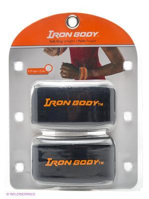 Утяжелители круглые Iron Body. Цвет: черный