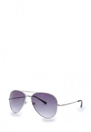 Очки солнцезащитные Pieces. Цвет: серебряный