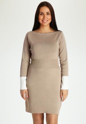Платье Marissimo. Цвет: бежевый
