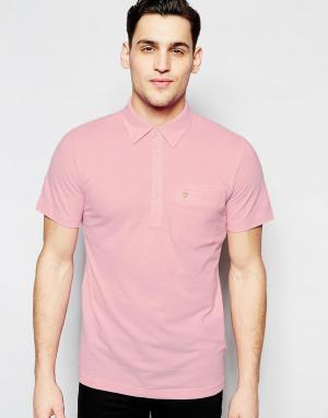 Farah Футболка-поло классического кроя с карманом. Цвет: розовый