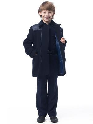 Пальто Cleverly. Цвет: синий