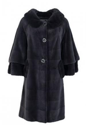 Меховое пальто норка BELLINI. Цвет: серый