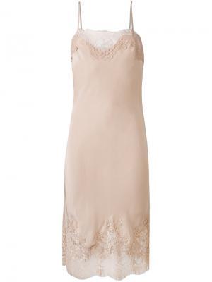 Платье с кружевной отделкой Coco Gold Hawk. Цвет: телесный