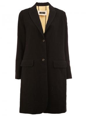 Пальто с контрастной спинкой Uma Wang. Цвет: чёрный