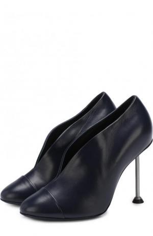Кожаные туфли Pin на шпильке Victoria Beckham. Цвет: темно-синий