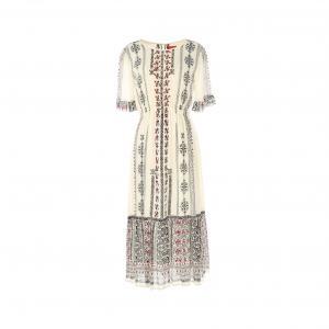 Платье с короткими рукавами RENE DERHY. Цвет: рисунок/экрю