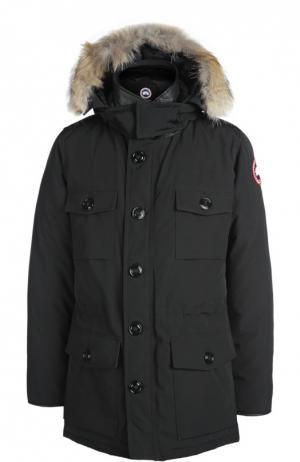 Куртка с капюшоном Canada Goose. Цвет: черный