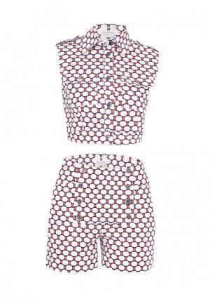 Комплект блуза и шорты Bergamoda. Цвет: разноцветный