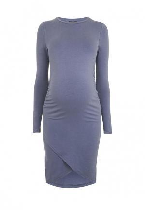 Платье Topshop Maternity. Цвет: синий