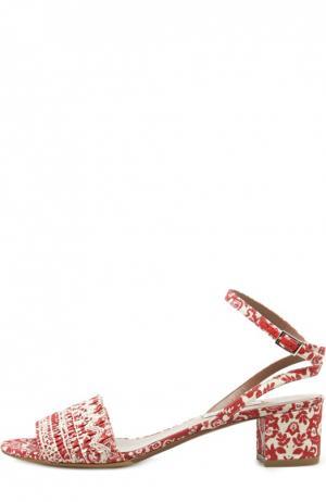 Текстильные босоножки Idabell с принтом Tabitha Simmons. Цвет: красный