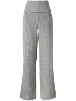 Smoking Palace wide-leg trousers Société Anonyme. Цвет: серый