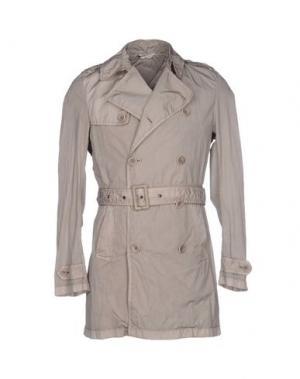 Легкое пальто HEVÒ. Цвет: светло-серый