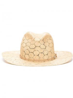 Соломенная шляпа Rag & Bone. Цвет: телесный