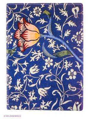 Обложка для паспорта Тюльпан на синем Mitya Veselkov. Цвет: фиолетовый, молочный