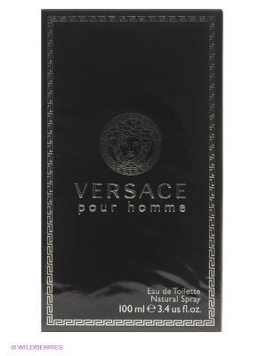 Versace Pour Homme М Товар Туалетная вода спрей 100мл. Цвет: черный