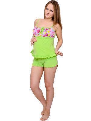 Пижама Flammber. Цвет: салатовый