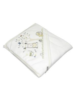 Банное полотенце с уголком Bebitof Baby. Цвет: желтый