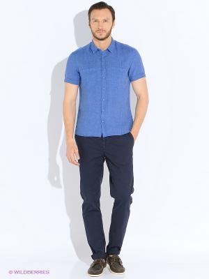 Рубашка Alfred Muller. Цвет: синий