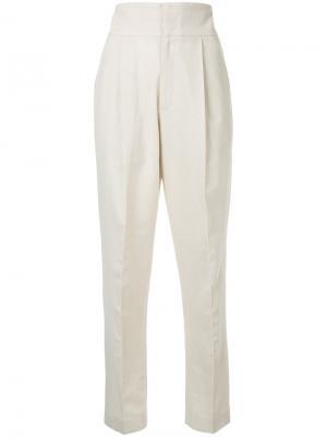 Узкие брюки Bambah. Цвет: белый
