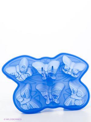 Форма для выпечки Бабочки Bekker. Цвет: синий