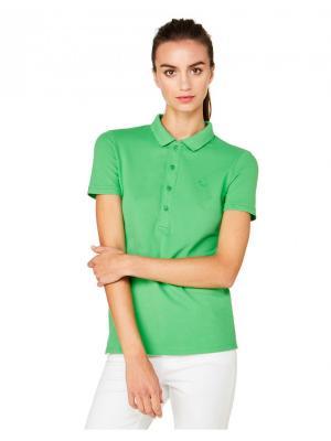 Футболка-поло United Colors of Benetton. Цвет: зеленый