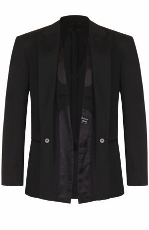 Шерстяной однобортный пиджак Maison Margiela. Цвет: черный