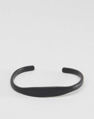 Icon Brand Черный браслет премиум-класса. Цвет: черный