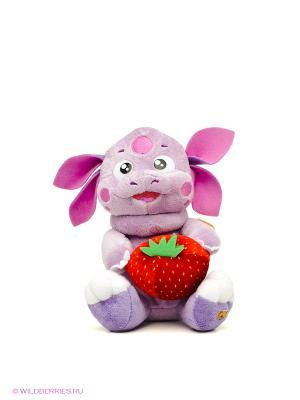 Мягкая игрушка Лунтик с клубничкой Мульти-пульти. Цвет: фиолетовый