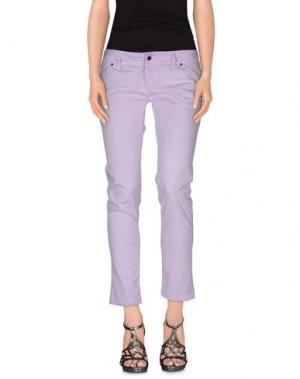 Джинсовые брюки JFOUR. Цвет: сиреневый
