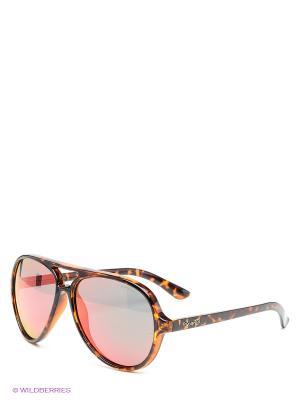 Солнцезащитные очки Polaroid. Цвет: коричневый, красный