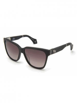 Солнцезащитные очки VW 902S 01 Vivienne Westwood. Цвет: черный