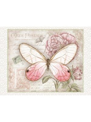 Картина - репродукция Розовая бабочка Magic Home. Цвет: розовый,бежевый