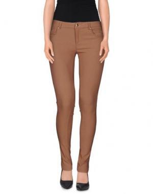 Повседневные брюки HANNY DEEP. Цвет: какао