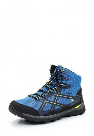 Ботинки трекинговые Regatta. Цвет: голубой