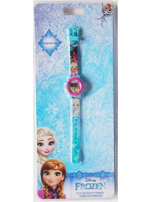 Часы наручные электронные Disney Frozen (Холодное сердце). Цвет: светло-голубой, розовый