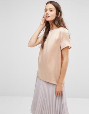 Gestuz Шелковая футболка. Цвет: розовый